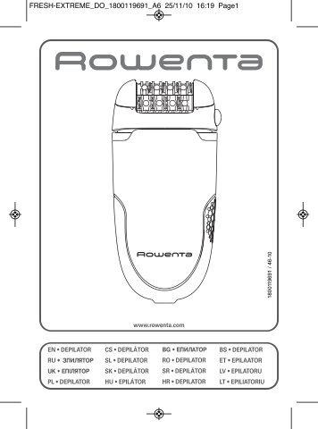 Rowenta FRESH EXTREME EP7340 - FRESH EXTREME EP7340 Magyar (Hungarian)