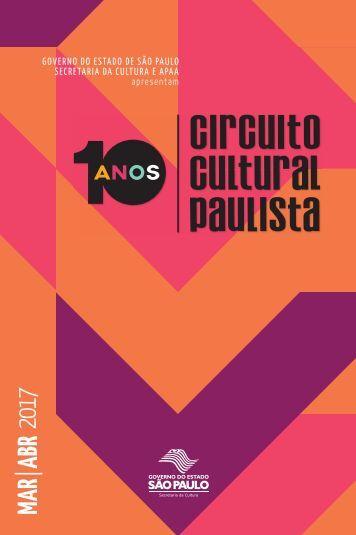 Saiu a programação do 1º Bimestre do Circuito Cultural Paulista 2017