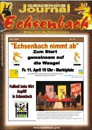Rechnungsabschluss 2007 - Marktgemeinde Echsenbach