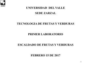 PRIMER LABORATORIO ESCALDADO FRUTAS Y VERDURAS 2017 (UV)