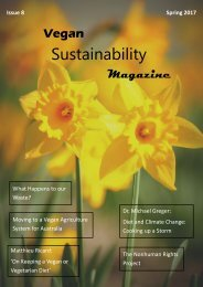 Vegan Sustainability Magazine - Spring 2017