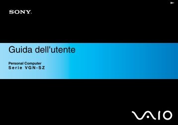 Sony VGN-SZ5XN - VGN-SZ5XN Istruzioni per l'uso