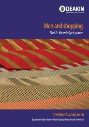 Men and shopping: Knowledge is power - Deakin University