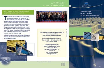 Traineeships in the Council of the European Union - Europa