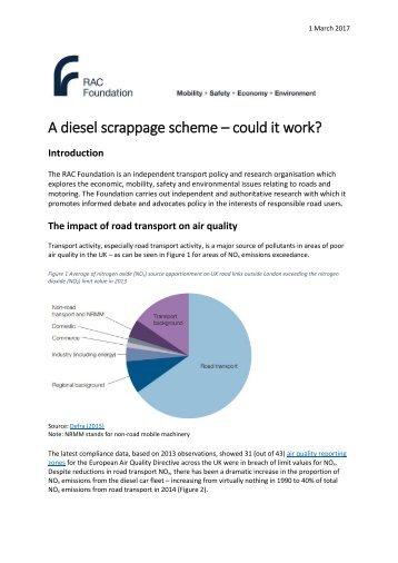 A diesel scrappage scheme – could it work?