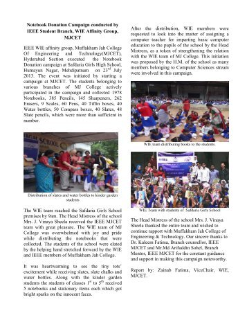 Article on Notebook donation campaign by WIE,IEEE MJCET (2) (1)