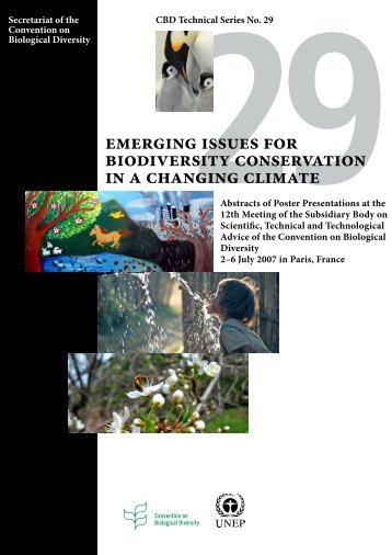 Emerging Issues for Biodiversity Conservation in a Changing Climate