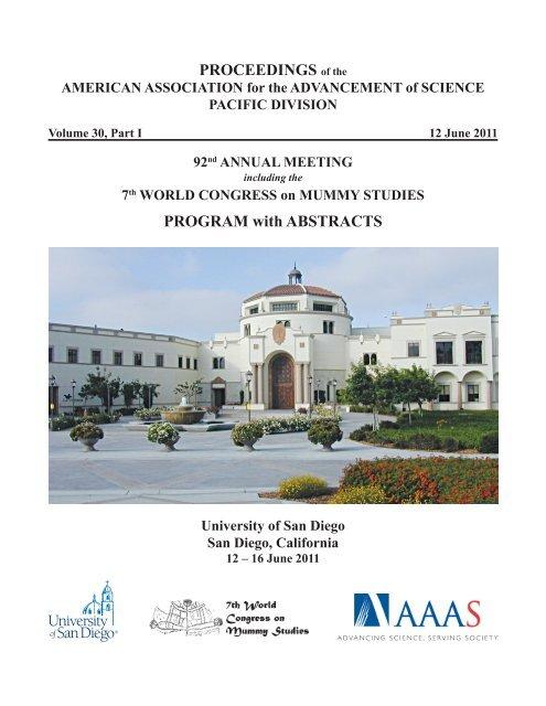 7th World Congress On Mummy Studies University Of San Diego