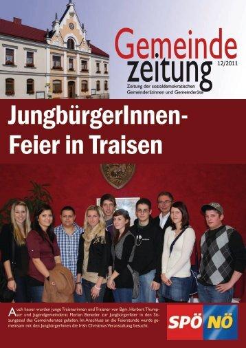 GemeindeZeitung 12/2011 - SPÖ Traisen
