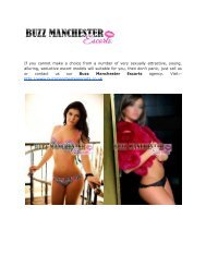 Lovely Escorts Girls From Buzz Manchester Escorts