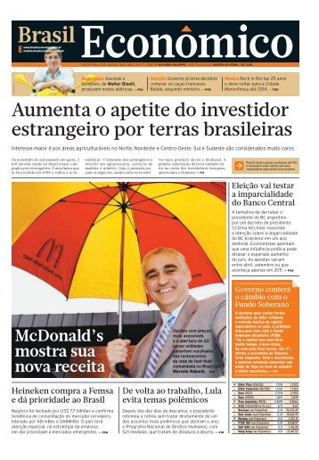 (TERÇA) : Plano 40 : 1 : CAPA_CAPA_01 - Brasil Econômico