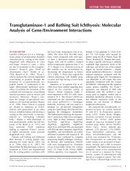 Transglutaminase-1 and Bathing Suit Ichthyosis: Molecular Analysis ...