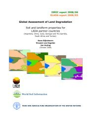 Soil and landform properties for LADA partner countries