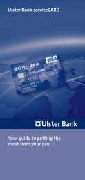 Ulster Bank serviceCARD Your guide to getting the most from your ...