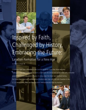 Inspired by Faith Challenged by History Embracing the Future