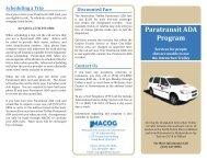 Paratransit ADA Program - Michiana Area Council Of Government