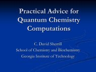 Practical Advice for Quantum Chemistry Computations