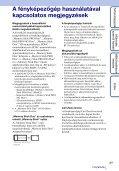 Sony DSC-T99D - DSC-T99D Istruzioni per l'uso Ungherese - Page 3
