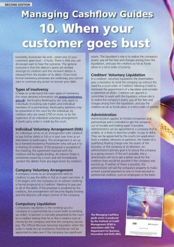 10. When your customer goes bust.indd - Credit Management Matters