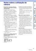 Sony DSC-T99D - DSC-T99D Istruzioni per l'uso Portoghese - Page 3