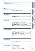 Sony DSC-T99D - DSC-T99D Istruzioni per l'uso Portoghese - Page 6