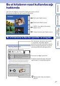 Sony DSC-T99D - DSC-T99D Istruzioni per l'uso Turco - Page 2