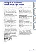 Sony DSC-T99D - DSC-T99D Istruzioni per l'uso Turco - Page 3