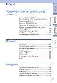Sony DSC-T99D - DSC-T99D Istruzioni per l'uso Olandese - Page 5