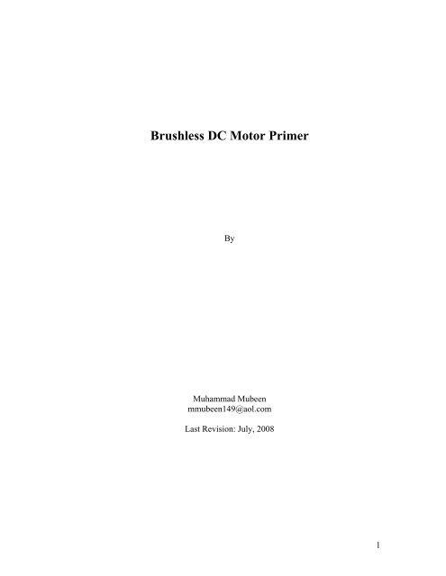 Brushless DC Motor Primer - Insight Automation