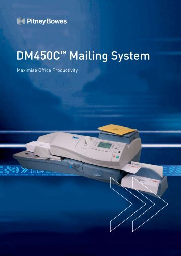 DM450C™ Mailing System - The Franking People