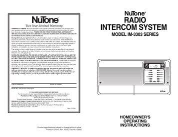 nutoner radio intercom system model im 3303 series ?quality=85 am fm radio cd player intercom system nutone nutone ima3303 wiring diagram at bayanpartner.co