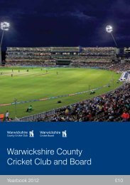 Warwickshire County Cricket Club and Board