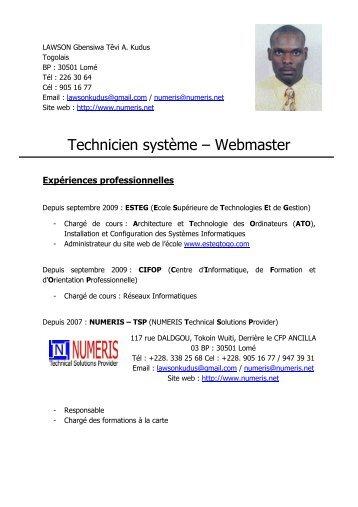 technicien webmaster