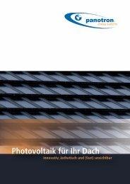 Photovoltaik für Ihr Dach - bei panotron