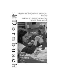 Dornbusch Ostern / Konfirmation 2008 - Evangelische ...