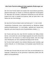 Udo Corts Fanclub enttäuscht über geplante Änderungen am HStuBe
