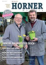 HORNER Magazin | März-April 2017