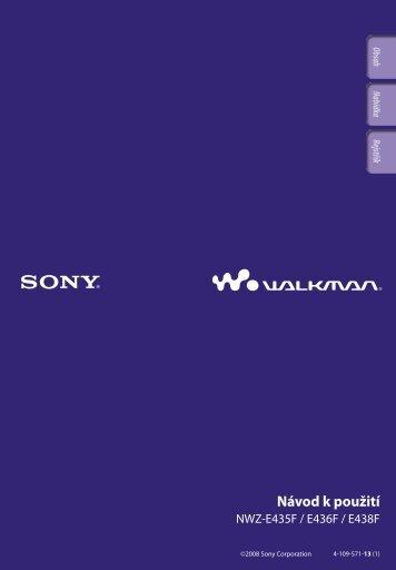 Sony NWZ-E435F - NWZ-E435F Istruzioni per l'uso Ceco
