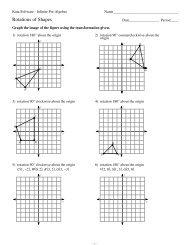 Rotations of Shapes - Kuta Software