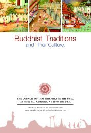 Buddhist Tradition&Thai Culture