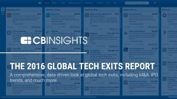 THE 2016 GLOBAL TECH EXITS REPORT
