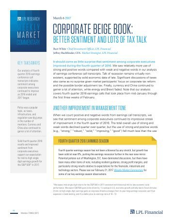 CORPORATE BEIGE BOOK