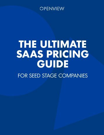 THE ULTIMATE SAAS PRICING GUIDE