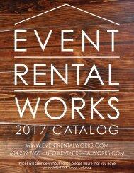 Event Rental Works Pricelist 2017