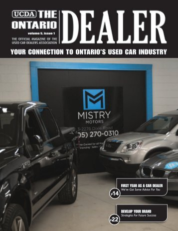 YOUR CONNECTION TO ONTARIO'S USED CAR INDUSTRY