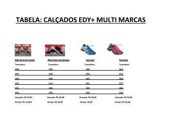 Tabela Calçados Edy+MultiMarcas