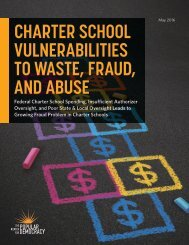 CHARTER SCHOOL VULNERABILITIES TO WASTE FRAUD AND ABUSE
