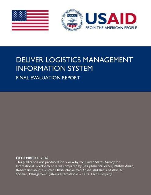 DELIVER LOGISTICS MANAGEMENT INFORMATION SYSTEM