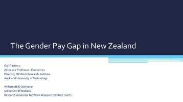 The Gender Pay Gap in New Zealand