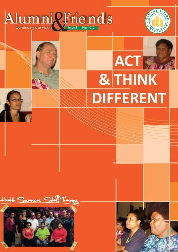 ACT DIFFERENT & THINK - Divine Word University